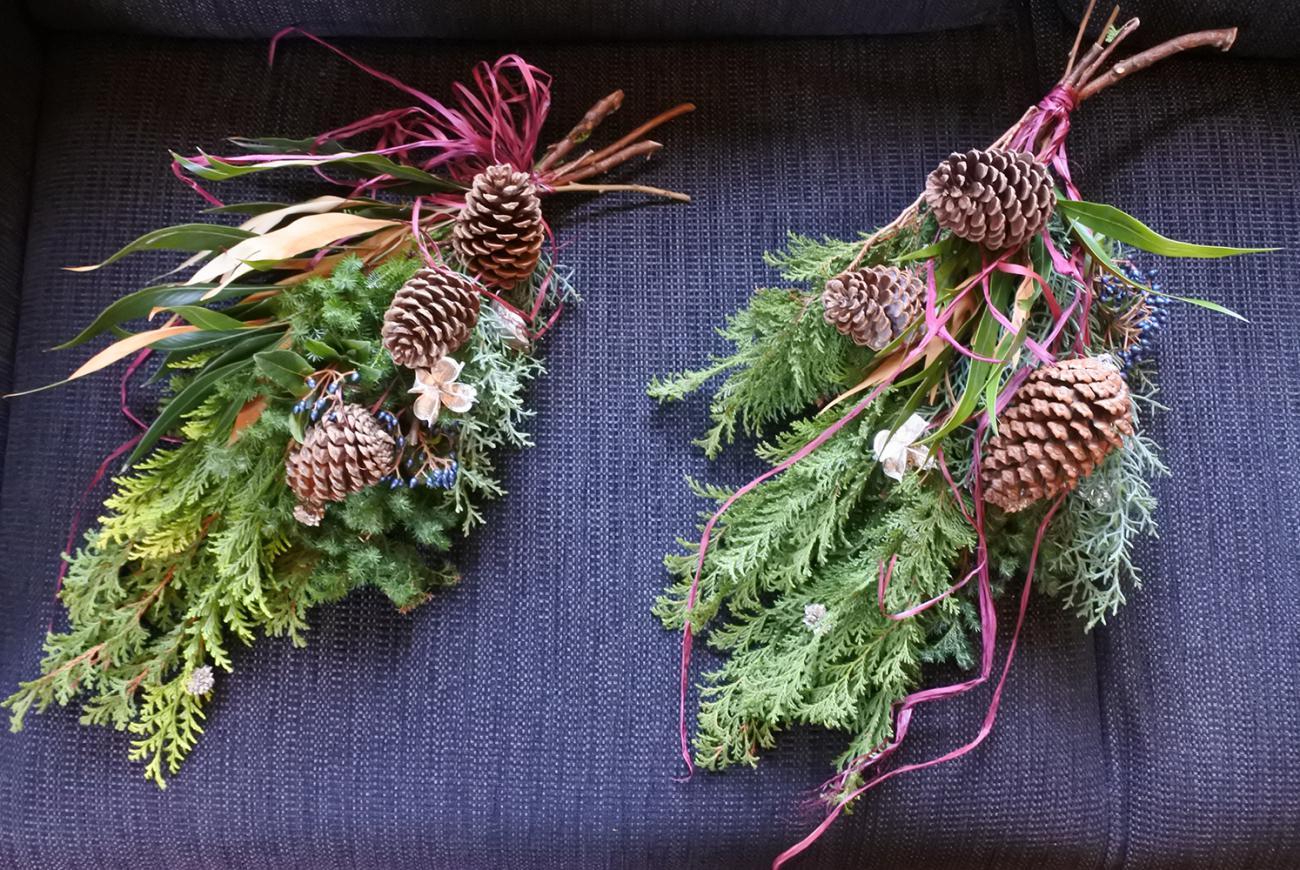 ※終了※atelier zukaさんによる お正月飾りに変身するクリスマススワッグづくり講座