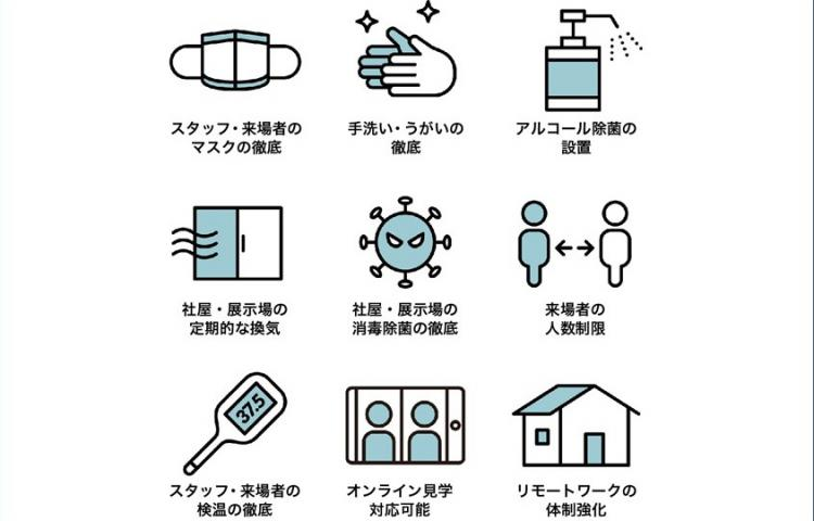 新型コロナウイルス感染拡大防止に関するお知らせ(2021.05.14更新)